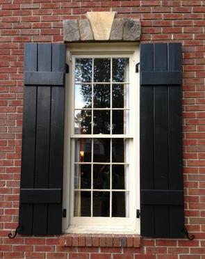 Painted Brick House Exterior Ranch Black Shutters